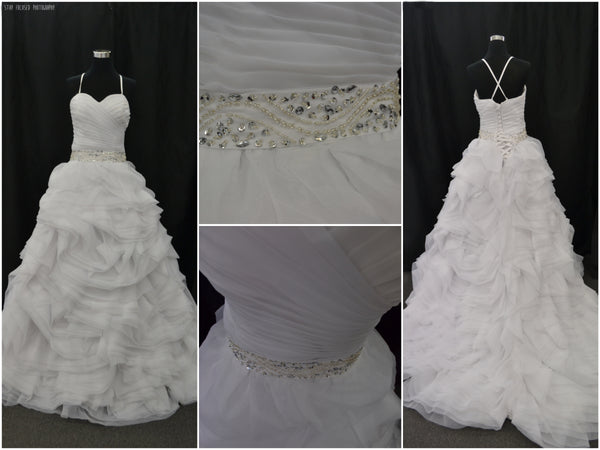 Ruffled Sweetheart Wedding Dress