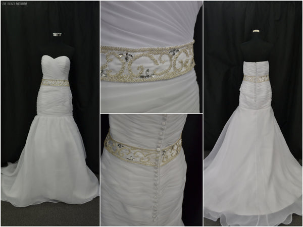 Flattering Organzer Wedding Dress