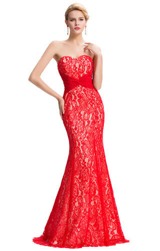 Sweet Heart Red Lace Dress GK000045