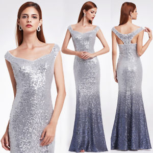 Elegant and Graceful Sequin Long Sparkle Evening Party Dress EP08999