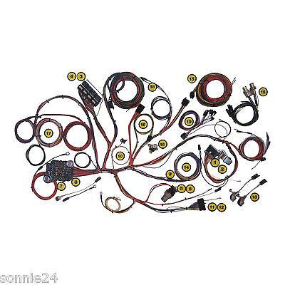 1967 1968 mustang wire harness american autowire update wiring kit # 510055