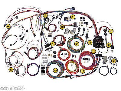 american autowire hi tech classics 1964 1966 mustang wire harness wiring kit ford american autowire 510125