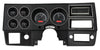 1973-87 Chevy Pickup VHX System, Black Alloy Style Face, Red Display