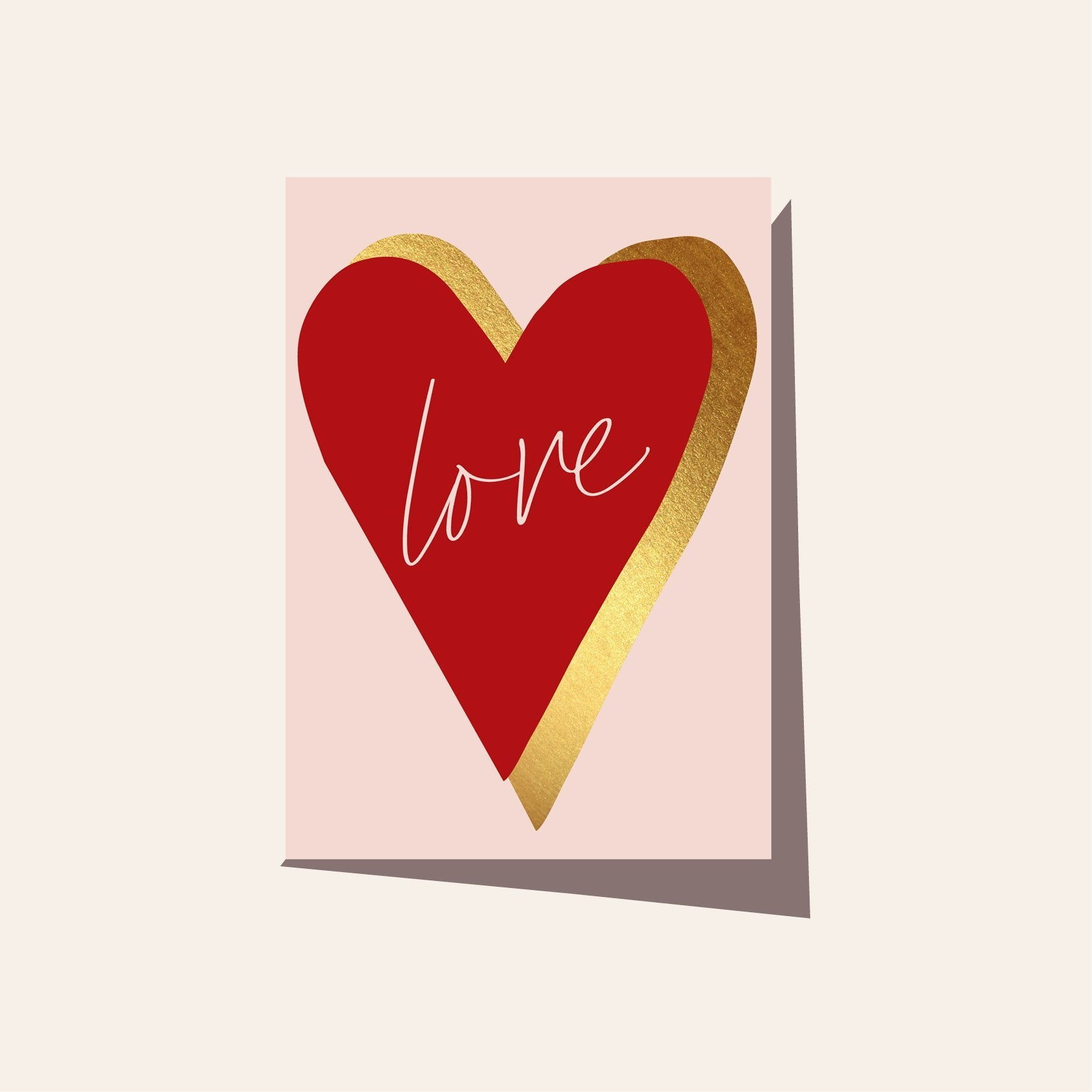 Greeting Card - Love Heart Red