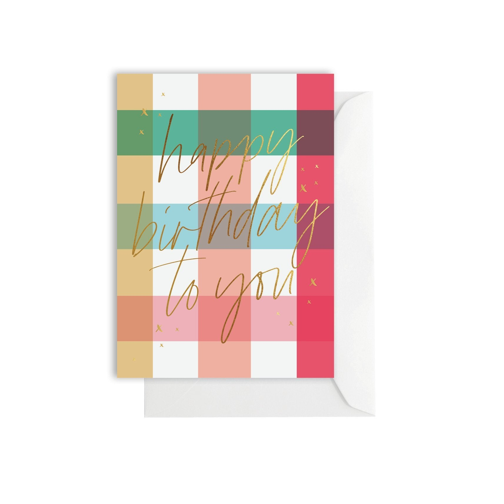 Greeting Card - Gingham Birthday Bright