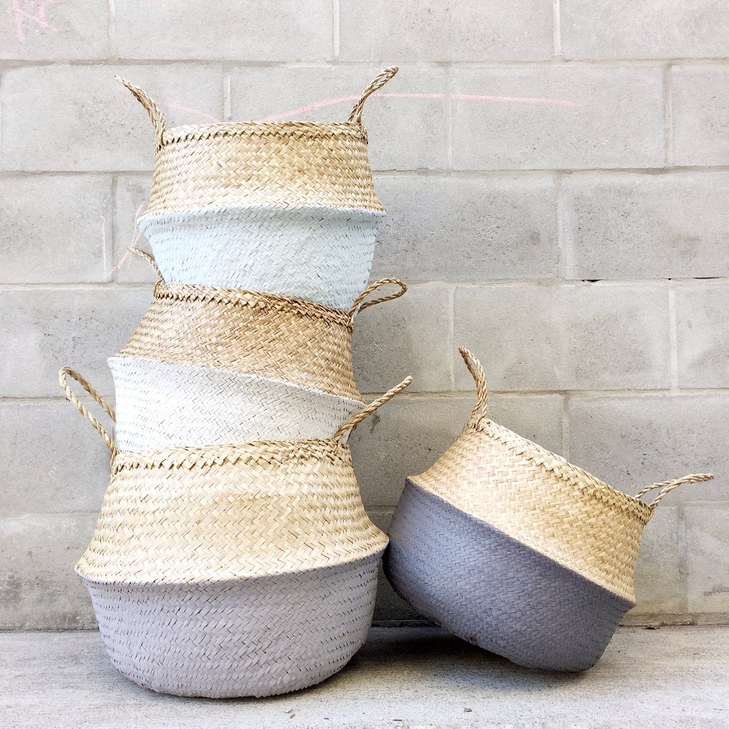 Seagrass Basket - Soft Blue