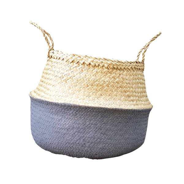 Seagrass Basket - Dark Grey