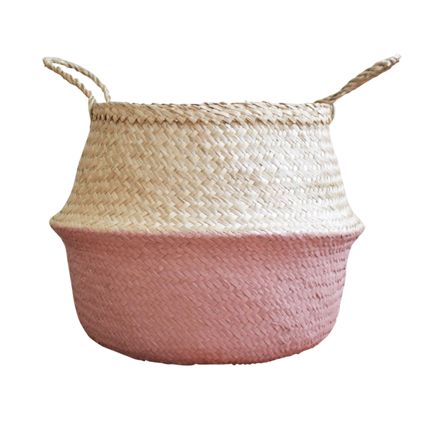 Seagrass Basket - Antique Pink