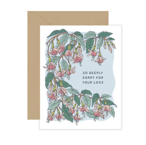 So Deeply Sorry for Your Loss Card - Fuchsia