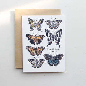 Thank You Kindly - Butterfly Card