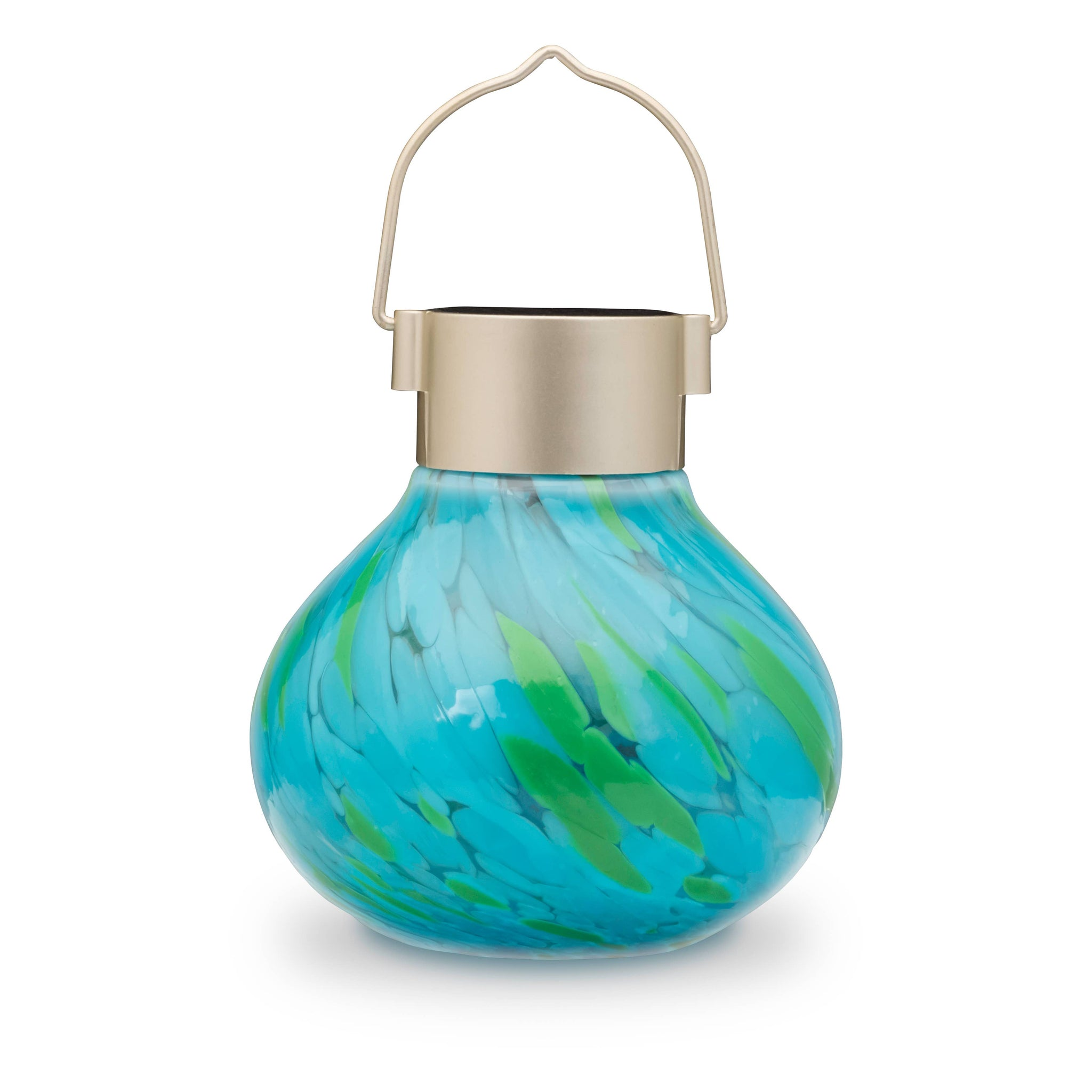 Solar Glass Tea Lantern - Mint