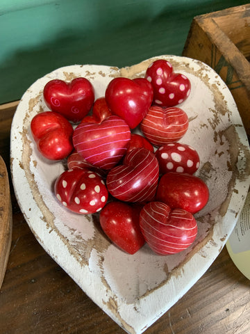 Carved Soapstone Hearts