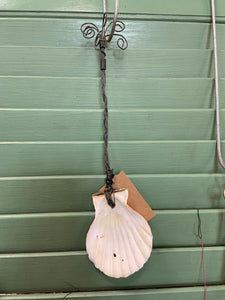 Decorative Handmade Metal/Shell Wall Hanging Spoon