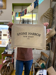 Stone Harbor Canvas Banner Flag with grommets