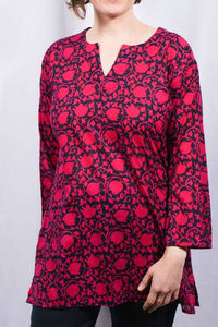 Tunic Alice Hot Pink Navy