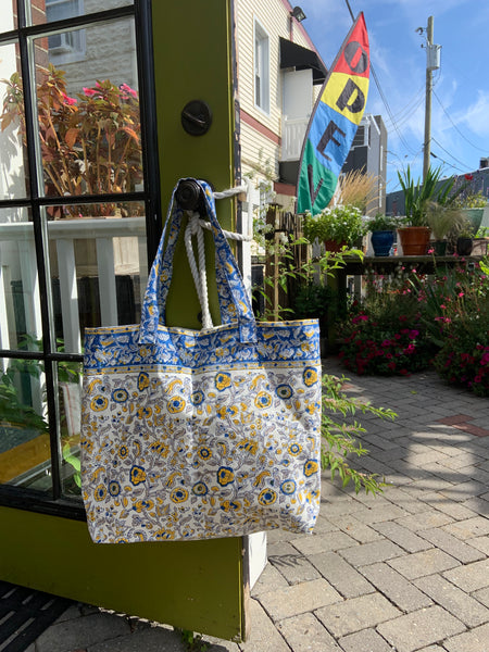 Hand Block Printed Canvas Tote Bag