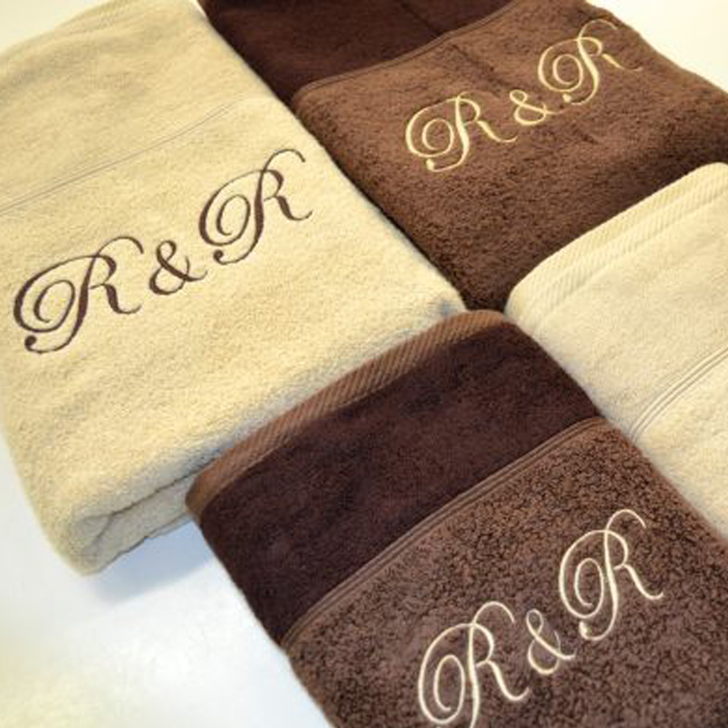 Initials Embroidered Towel Set