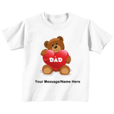 Dad Bear Love Personalized T-Shirt