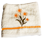 Flower Embroidered Towel