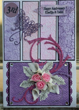 Purple Grace Greeting Card (Handmade)