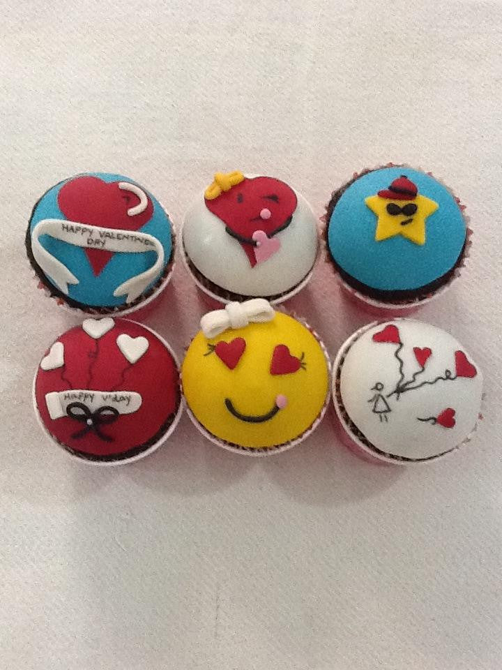 Customized Valentines Cupcakes