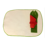 White & Green Place Mats