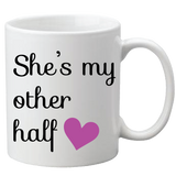 Personalized Better Half Couple Mugs