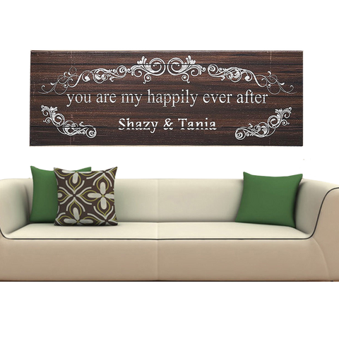 Personalized Wood Canvas