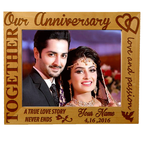 Customized Anniversary Frame