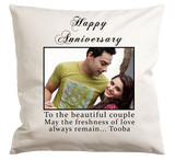 Happy Anniversary Pillow