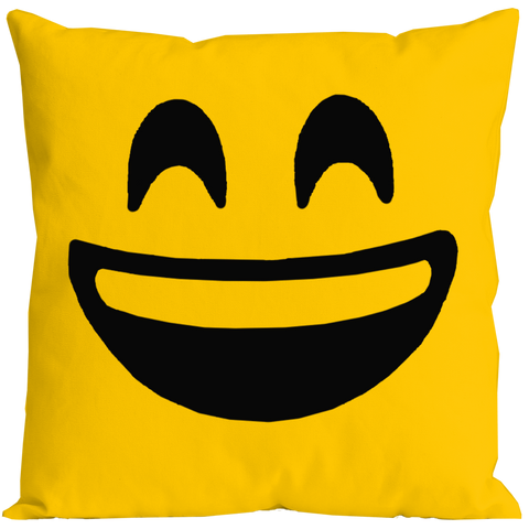 Emoticon Laugh Out Loud Pillow