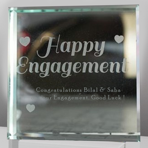 Engagement Glass Block 3