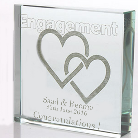 Personalized Engagement Glass Block 1