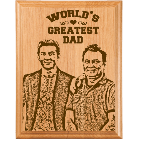 Father's Wooden Plaque