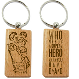 Dad Wood Keychain
