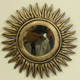 Carved Sun Mirror