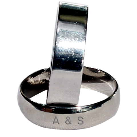 Pure Silver Couple Finger Band