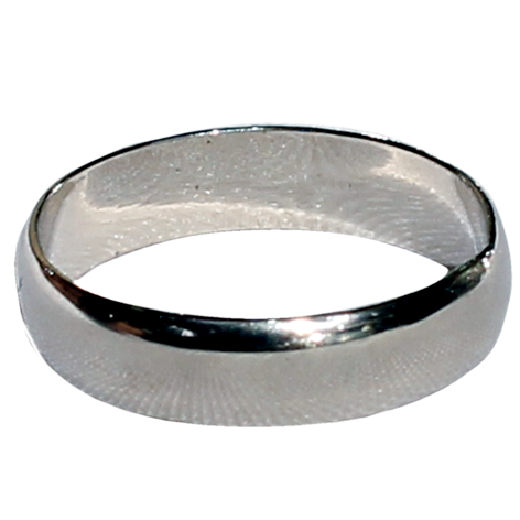 Pure Silver Plain Ring Band