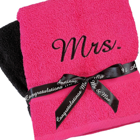 Couple Personalized Towels