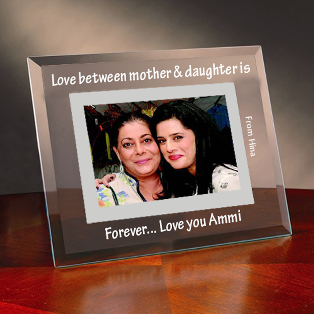 Personalized Mother Glass Photo Frame | Mark A Memory