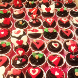Love Sign Cupcakes
