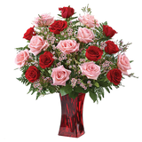 Red & Pink Roses Bouquet (Imported)