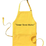 Yellow Embroidered Apron