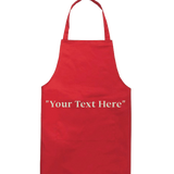Customized Red Apron