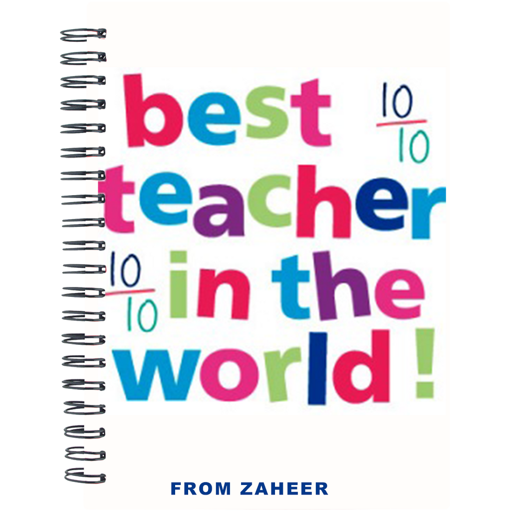 Teacher's day Notebook