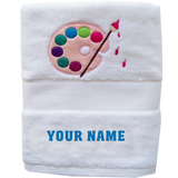 Paint Your Name Towel