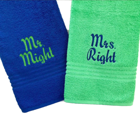 Mr. & Mrs. Towel Set