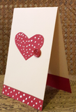 Personalized Heart Spot Greeting Card (Handmade)