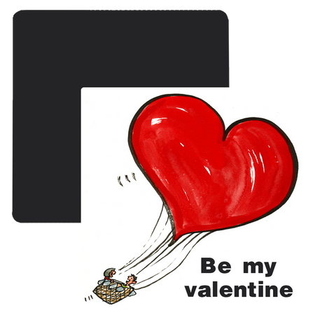 Be my Valentine Fridge Magnet