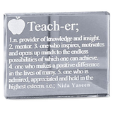 Teacher Glass Block